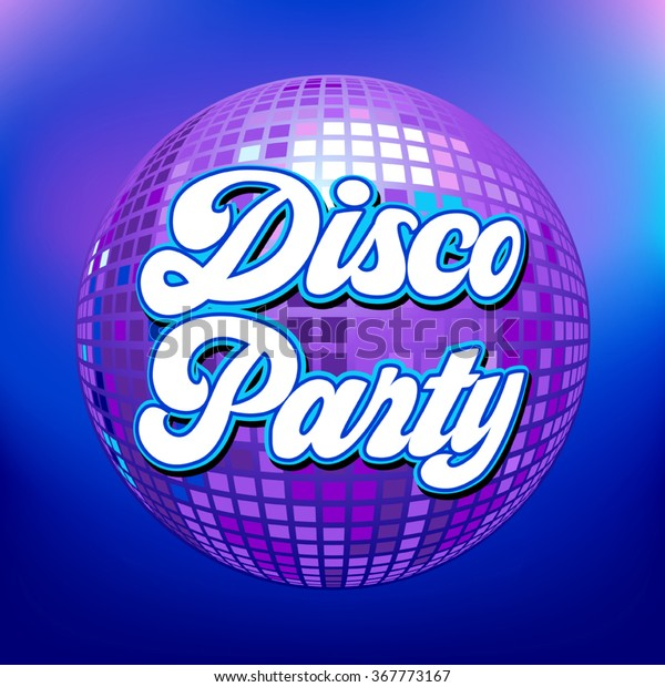 Disco Party Background Poster Flyer Stock Vector Royalty Free