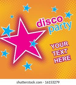 Disco party flayer. Vector.