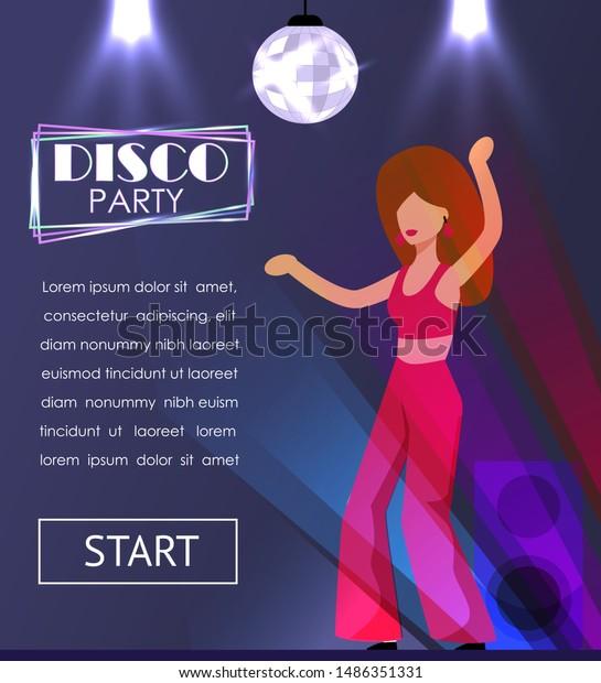 Club dancer girl   Stock vector   Colourbox