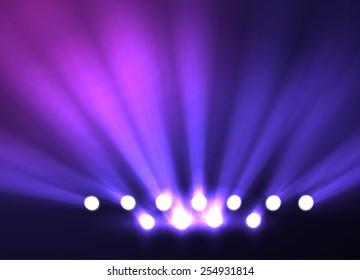 Disco party spotlight background. Vector eps10.