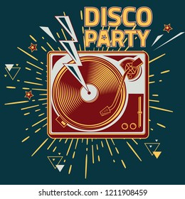 Disco party - turntable musical design