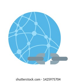 disconnect icon. flat illustration of disconnect vector icon for web
