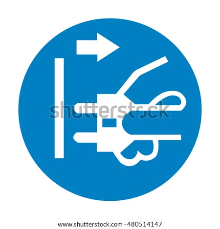 Disconnect Mains Plug Electrical Outlet Sign Stock Vector Royalty