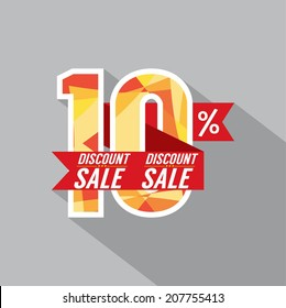 Discount 10 Percent Off Vector Illustration