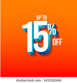Discount Up to 15% off Label Vector Template Design Illustration