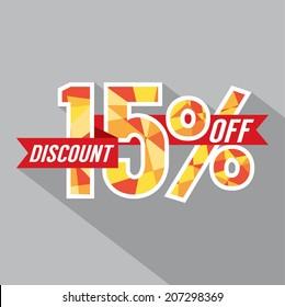 Discount 15 Percent Off Vector Illustration
