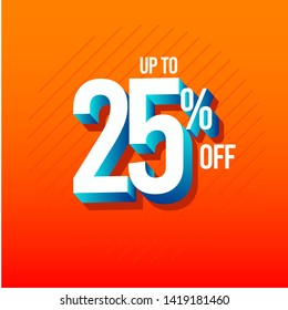 Discount Up to 25% off Label Vector Template Design Illustration