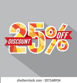 Discount 25 Percent Off Vector Illustration