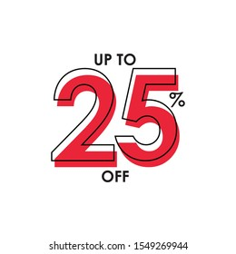 Discount up to 25% Vector Template Design Illustration