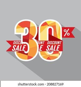 Discount 30 Percent Off Vector Illustration