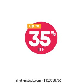 Discount up to 35% off Label Vector Template Design Illustration
