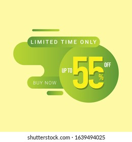 Discount up to 55% off Limited Time Only Vector Template Design Illustration
