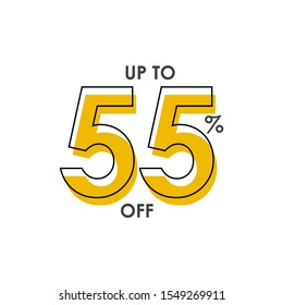 Discount up to 55% Vector Template Design Illustration