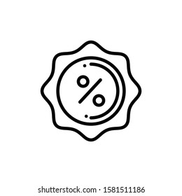 Discount Badge Icon Outline Vector. Holiday Sale Icons. Online Shop Ikon.