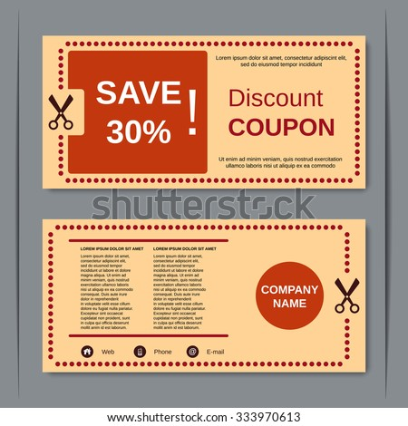 discount coupon gift voucher gift certificate stock vector royalty
