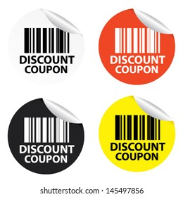 Discount Coupon stickers. Vector