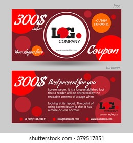 vector gift voucher abstract background red stock vector royalty