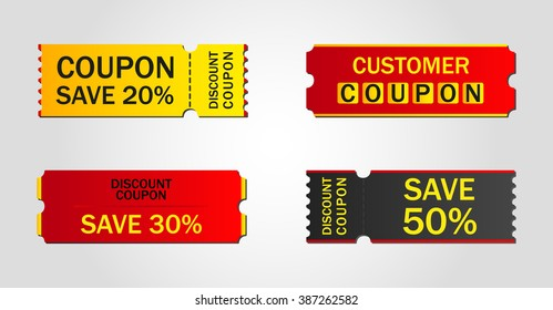 discount coupon, ticket, banner