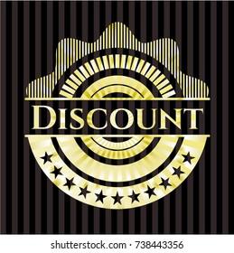 Discount golden emblem or badge