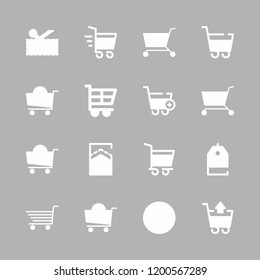 discount icon set. vector set about carts, price tag, percentage and coupon icons set.