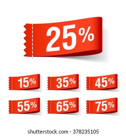 Discount labels, super sale, special offer tags. Vector.