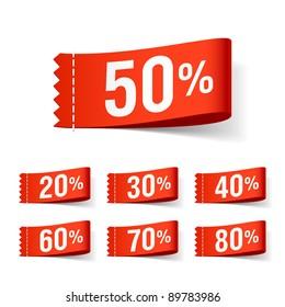 Discount labels. Vector.