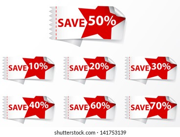 Discount labels .with star