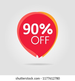 Discount offer price label, symbol for advertising campaign in retail