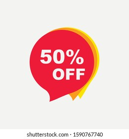 Discount offer price sticker icon isolated on white background. Vector illustration. Eps 10.