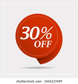 Discount with the price is 30%. This is the concept of the price list for discounts, of an advertising campaign, advertising marketing sales,