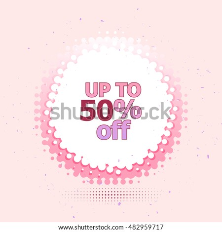 Discount Price Label Template Round Tag Stock Vector Royalty Free