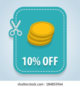 Discount price tag. Vector