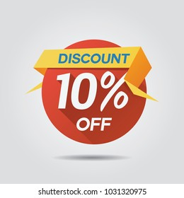 Discount Sale up to 10% off template vector