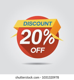 Discount Sale up to 20% off template vector
