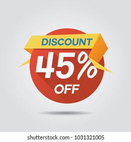 Discount Sale up to 45% off template vector