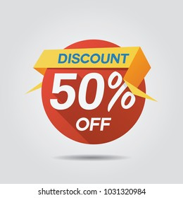 Discount Sale up to 50% off template vector