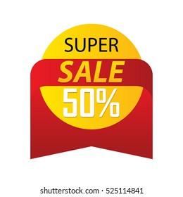 Discount Sale Label Sticker Vector Stock Vector (Royalty