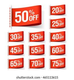 Discount sale labels