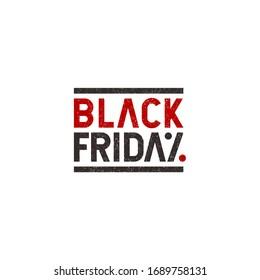 Discount or sale logo design label - Black Friday logo concept