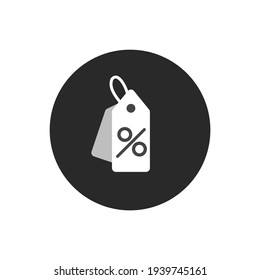 Discount shopping tag icon in flat style. Discount Label. hanging label. vector illustration.