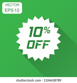 Discount Sticker Vector Icon Flat Style Stock Vector Royalty Free