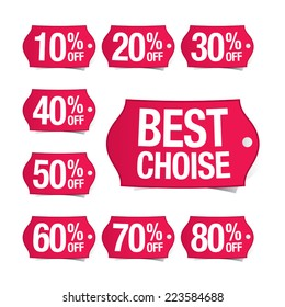 Discount vector price tags