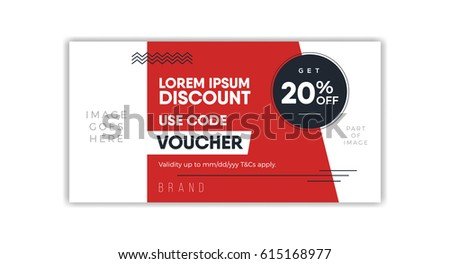 discount voucher template coupon design ticket のベクター画像素材