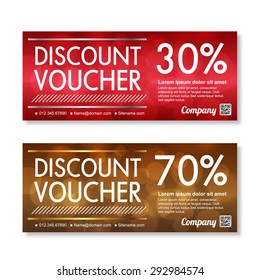 discount Voucher template with premium pattern.