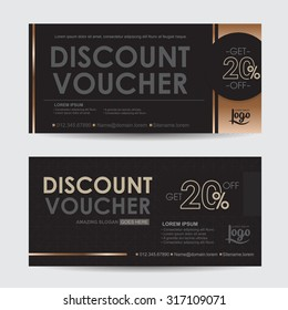 discount voucher template with premium pattern,Collection discount certificate business card banner calling card poster,Vector illustration