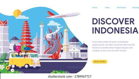Discover Indonesia Landmarks Landing Page