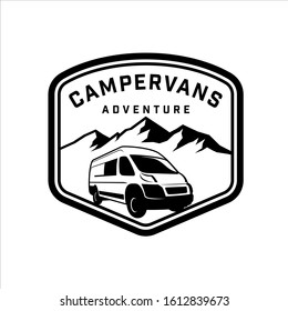 Discovering those majestic mountains with a campervan