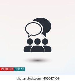 Discuss icon vector