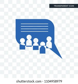 discussion board vector icon isolated on transparent background, discussion board logo concept