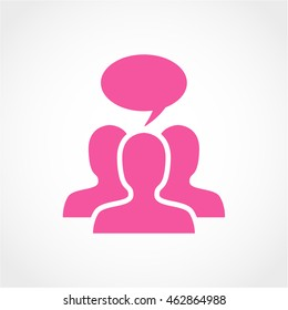 discussion Icon Isolated on light Background